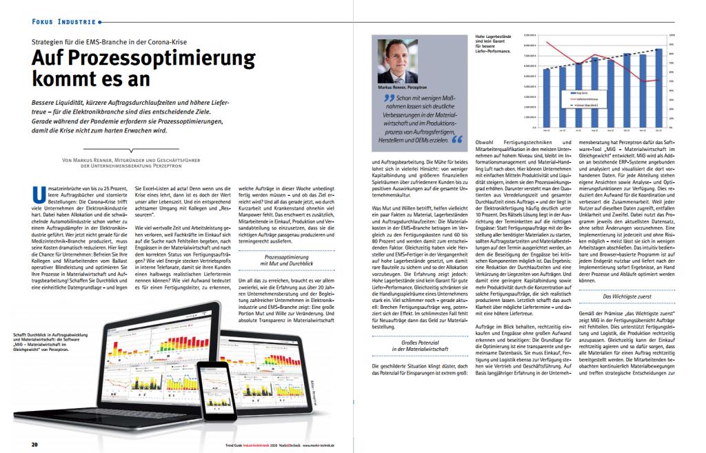 Markt&Technik Artikel Prozessoptimierung